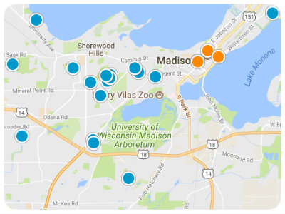 Greater Madison Real Estate Map Search