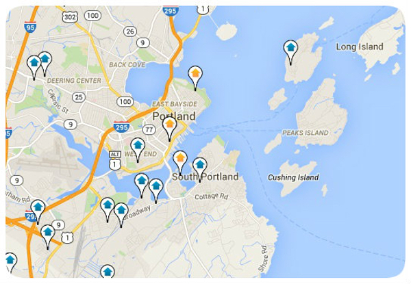Portland Maine Map Search