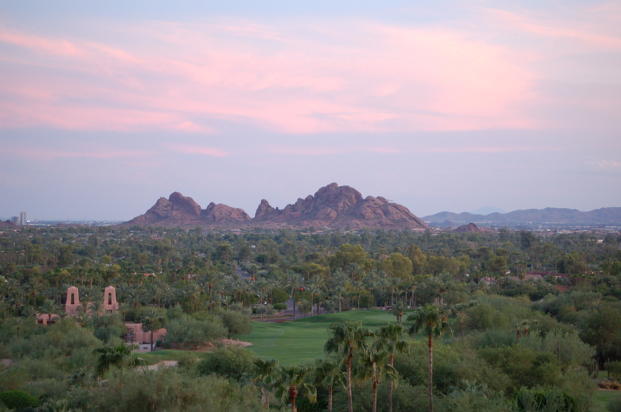Paradise Valley real estate owners explore Camelback Mountain.