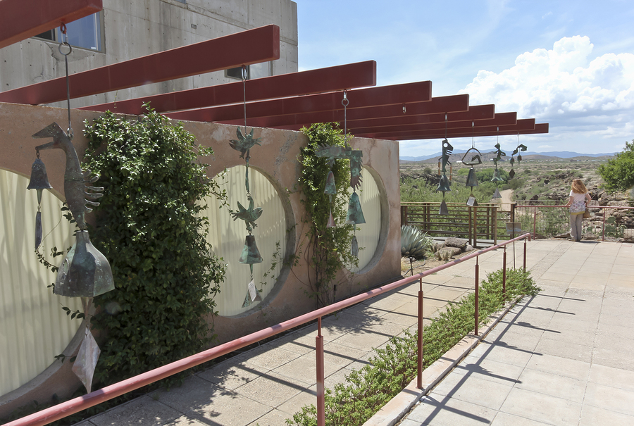 Visit Arcosanti near Paradise Valley homes.
