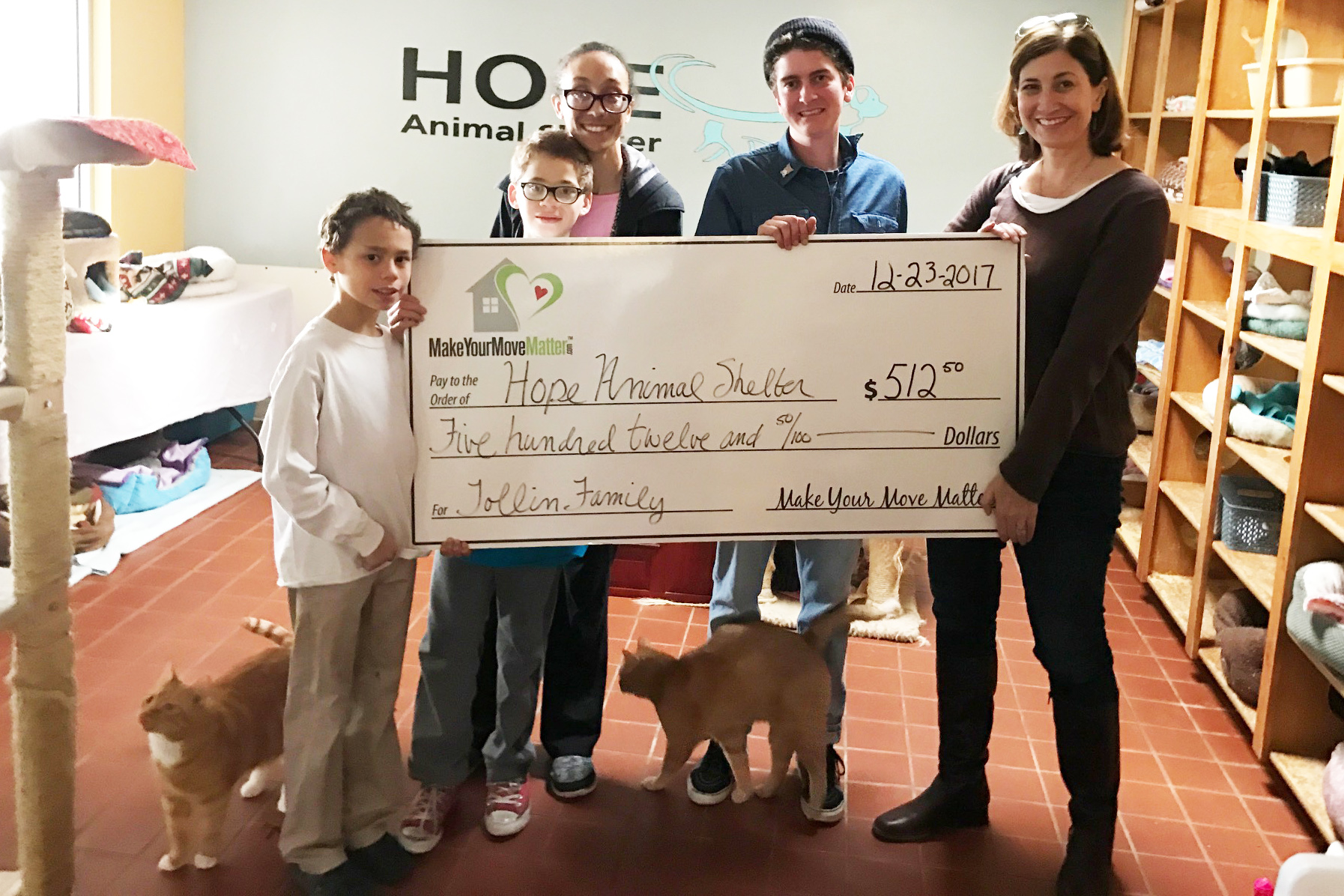 Hope Animal Shelter Donation