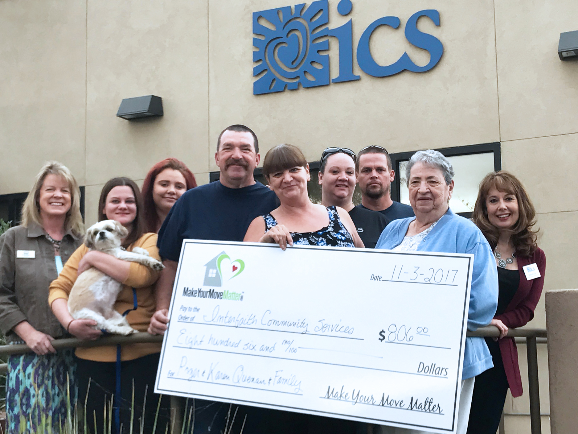 Quenan Donate to ICS