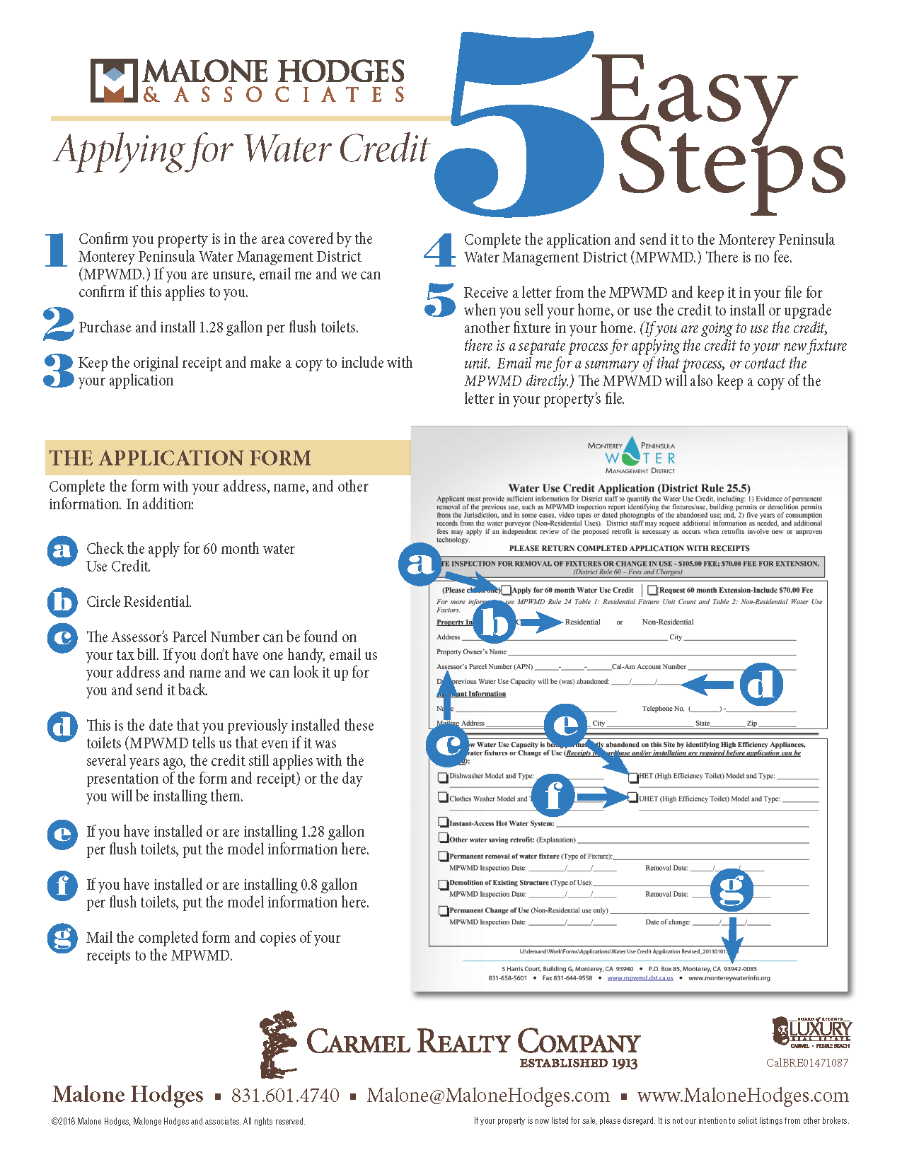 the five steps to securing water credits