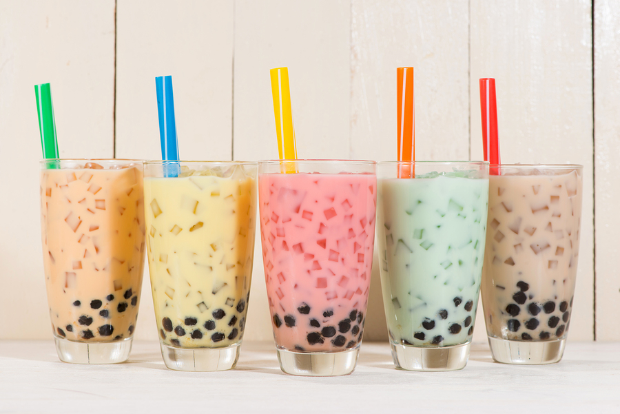 Santa Clara real estate owners drink boba tea at Moo Bar.