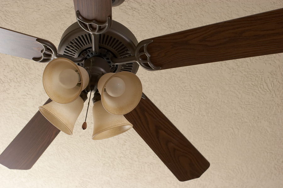 Use a ceiling fan to reduce the utility bill on Silicon Valley property.