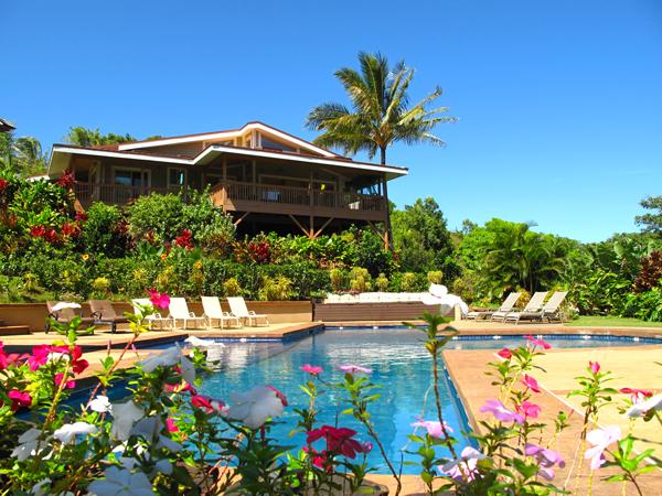 custom built home on Maui north shore