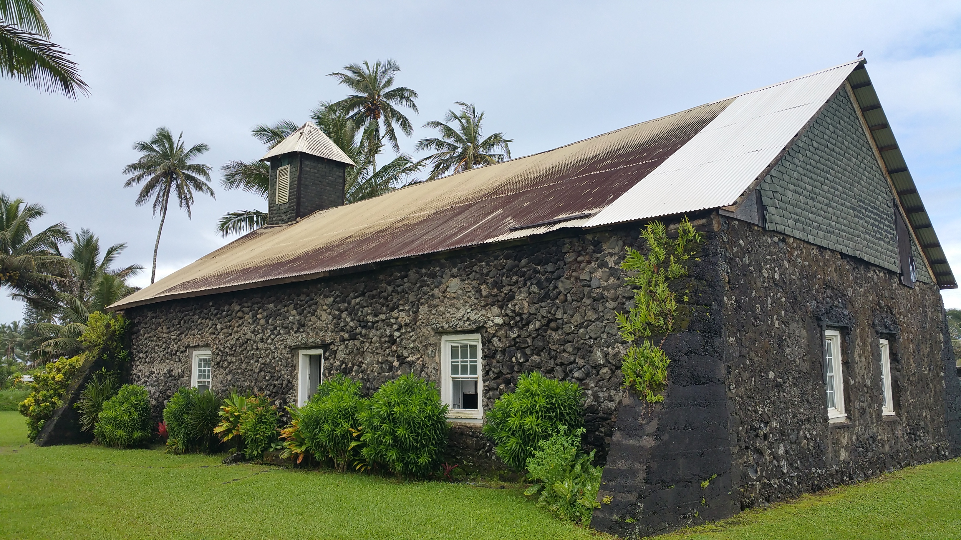 Keanae Church on the Road to Hana. Located on the Keanae Peninsula of East Maui.