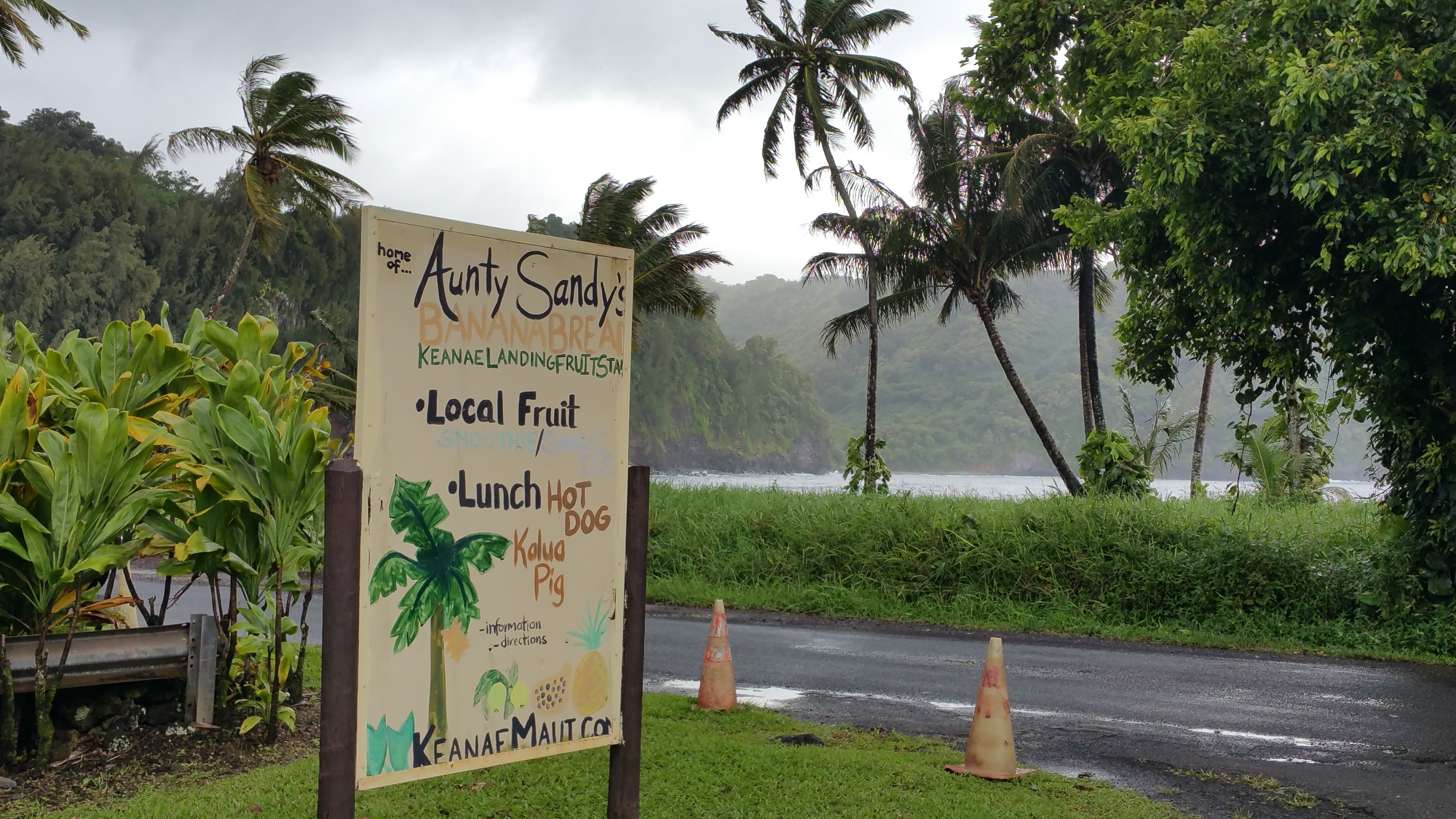 Aunty Sandy's Banana Bread. Road to Hana. Best banana bread on Maui.
