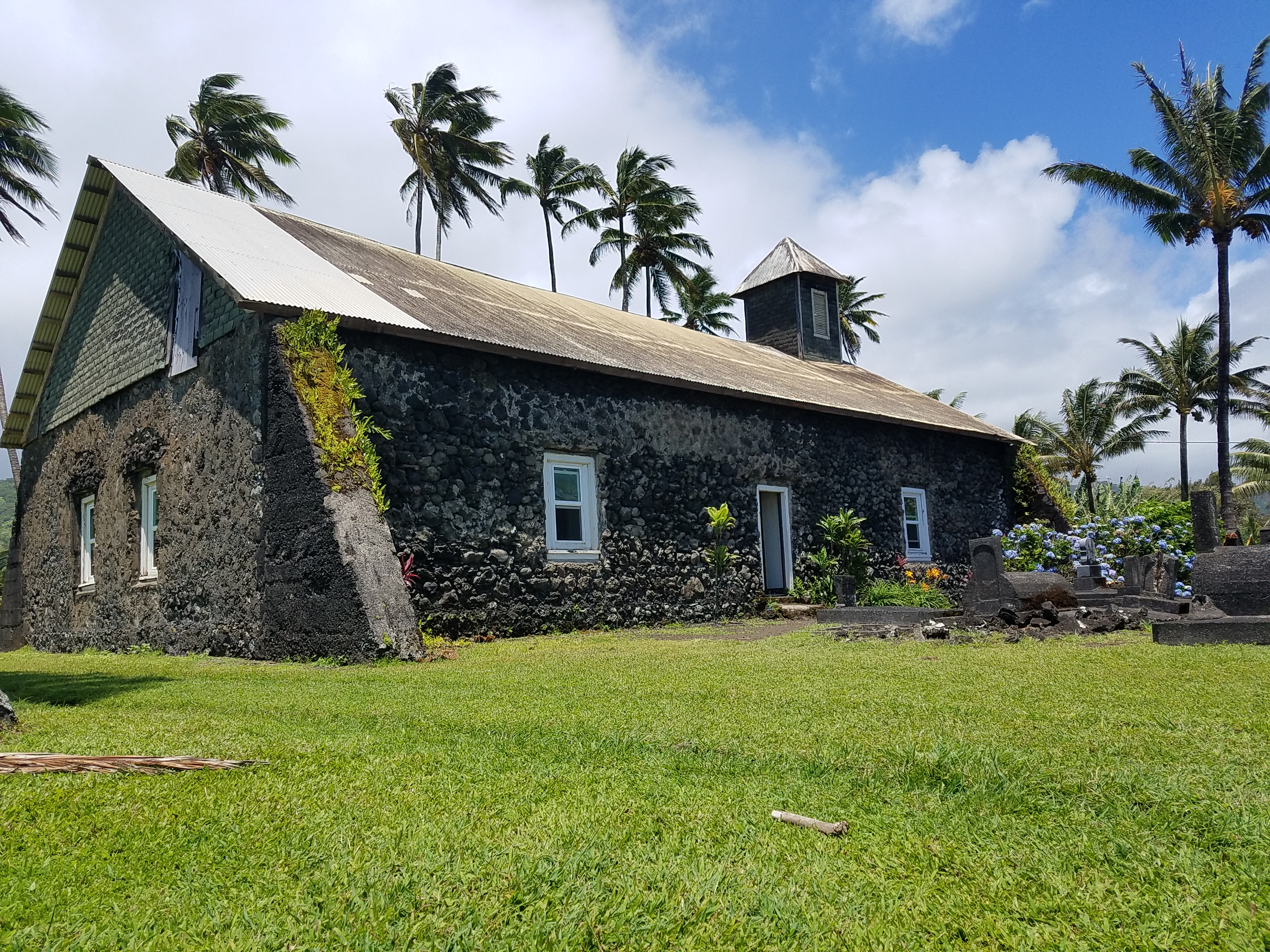 Lanakila Ihiihi O Iehowa Ona Kava Church also known as the Keanae Congregational Church. This church is located on the Keanae Peninsula on the Road to Hana.