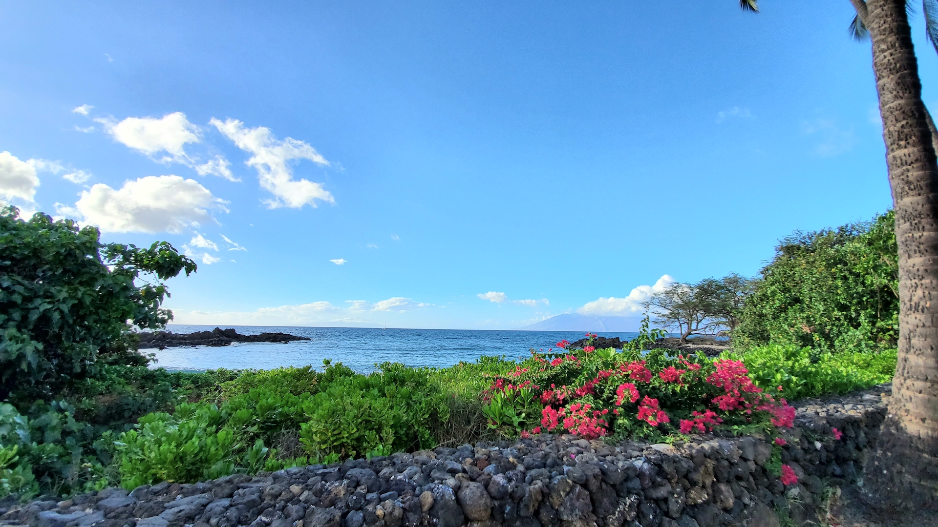 View towards Lana'i from the View from the Keawala'i Congregational Church.