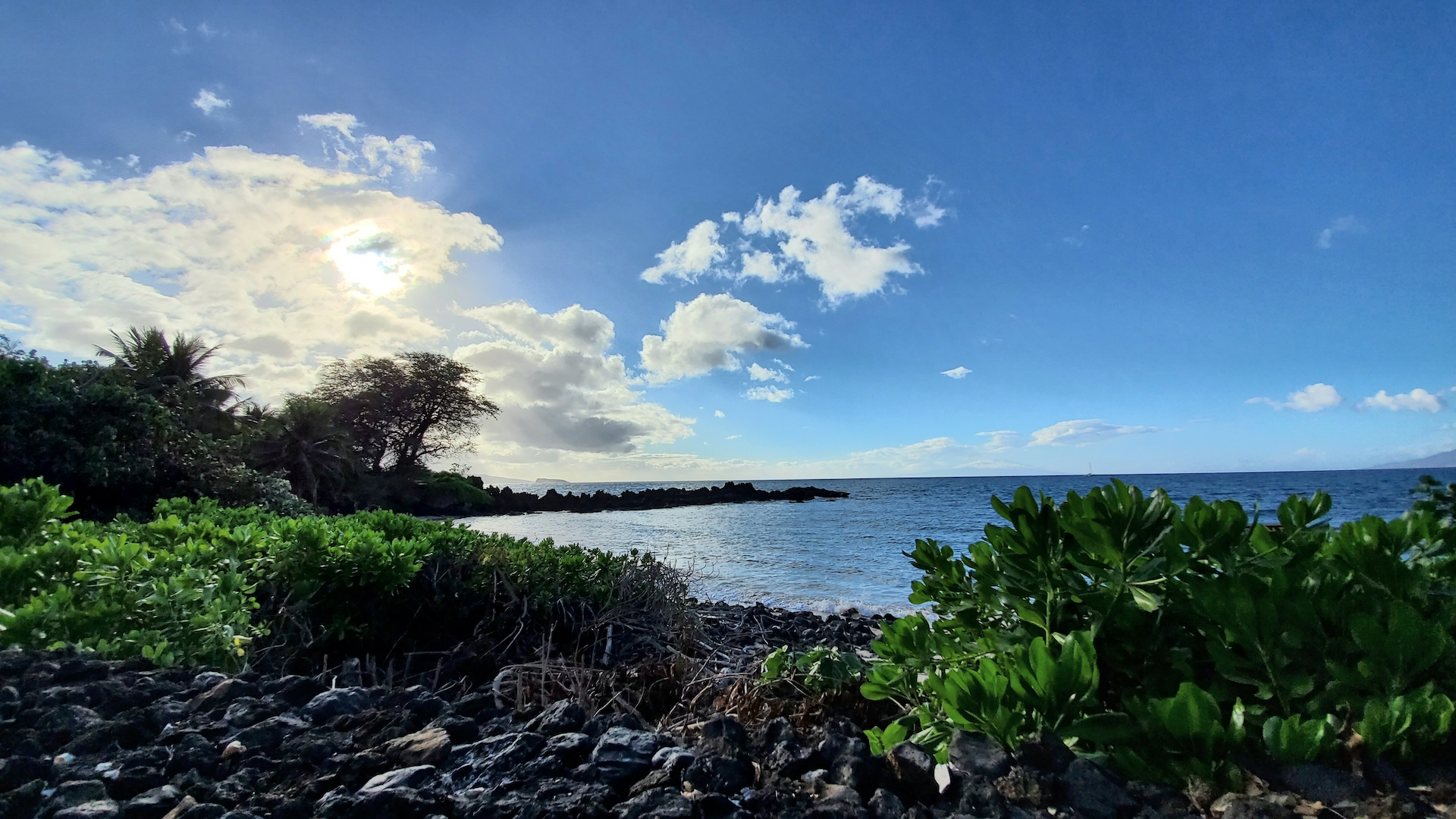View towards Kaho'olawe and Molokini from the View from the Keawala'i Congregational Church.