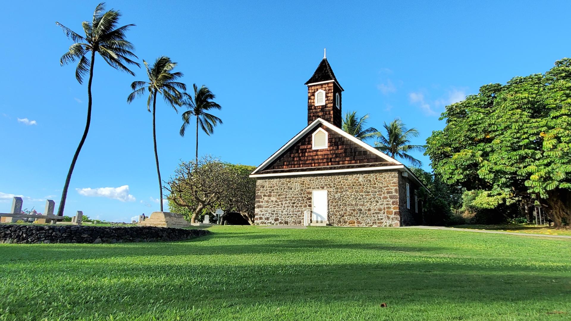Keawala'i Congregational Church oceanfront church.