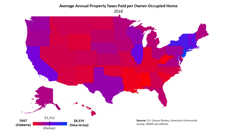 Louisiana Among The States With The Lowest Property Taxes - Us state tax map