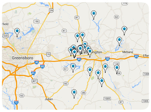Interactive Central NC Real Estate Map Search