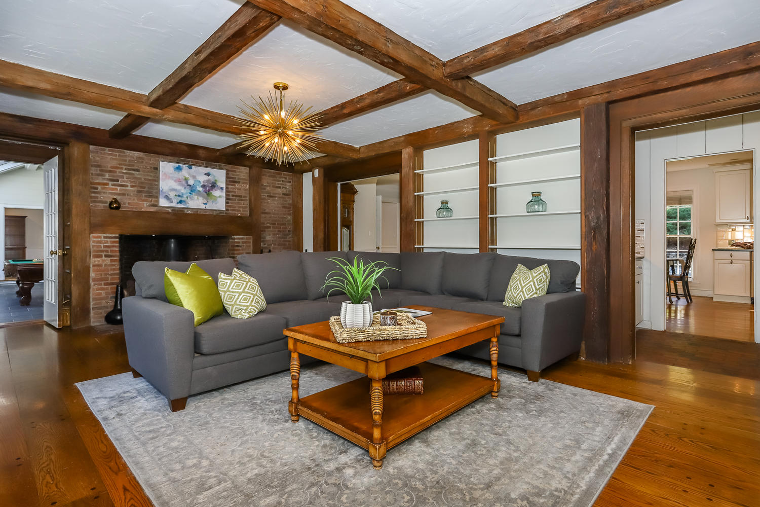 family room of magnificent estate in canton massachusetts