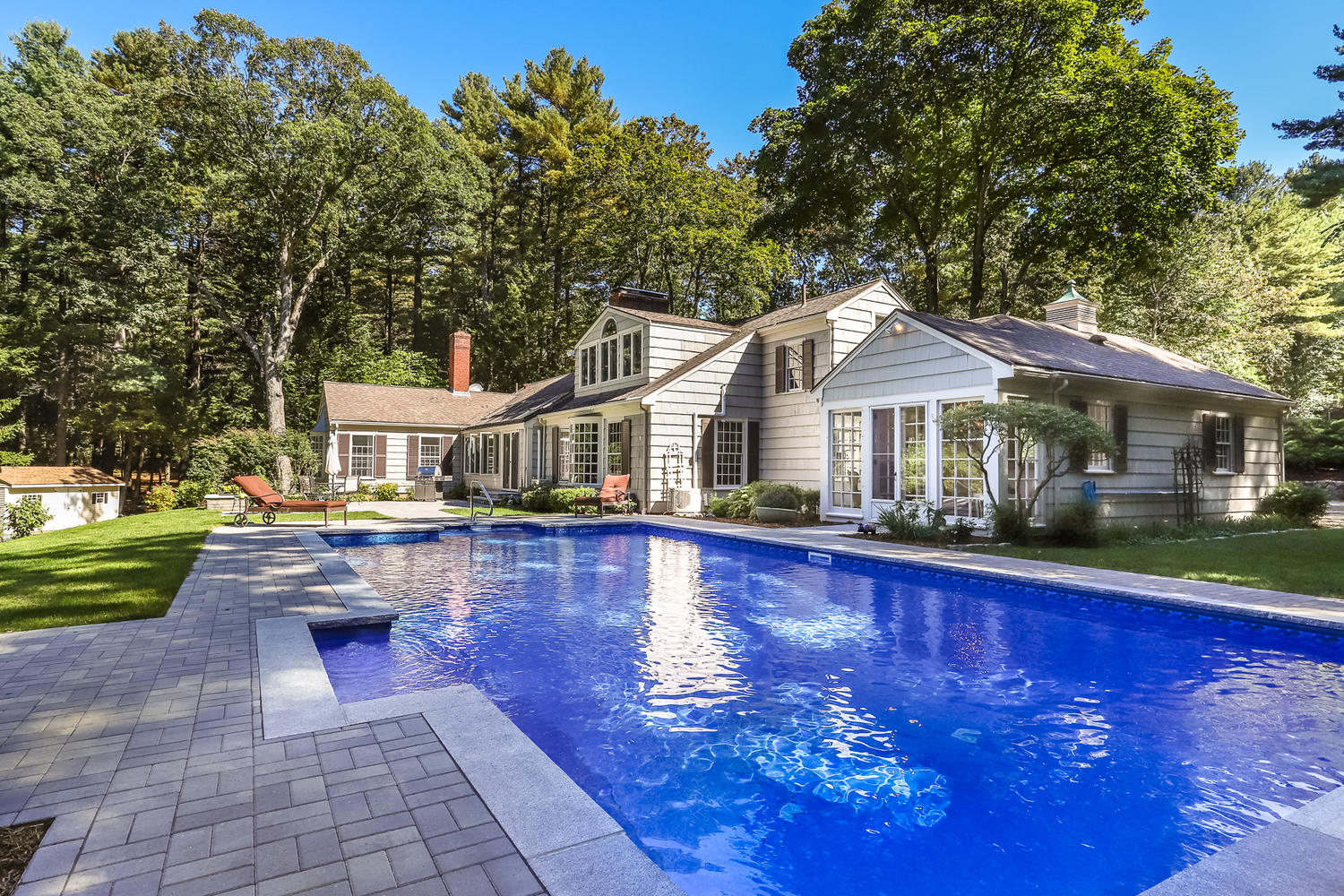 back year of magnificent estate in canton massachusetts