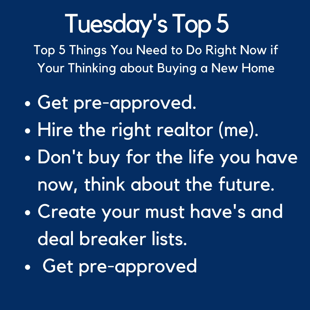 Tuesday's Top 5 Hits for Buying a Home
