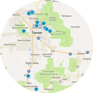 Central Tucson Real Estate Map Search