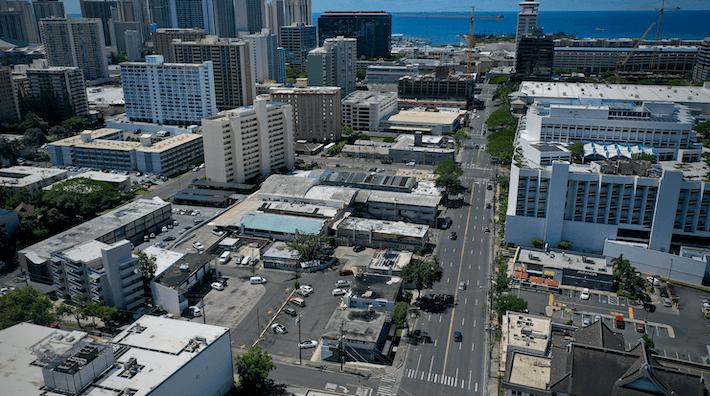 Keeaumoku Aerial View Towards Ala Moana Center