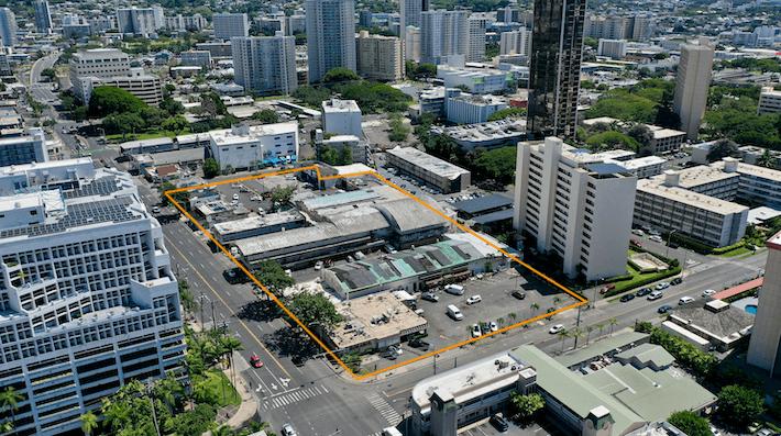 Keeaumoku Tower Aerial View