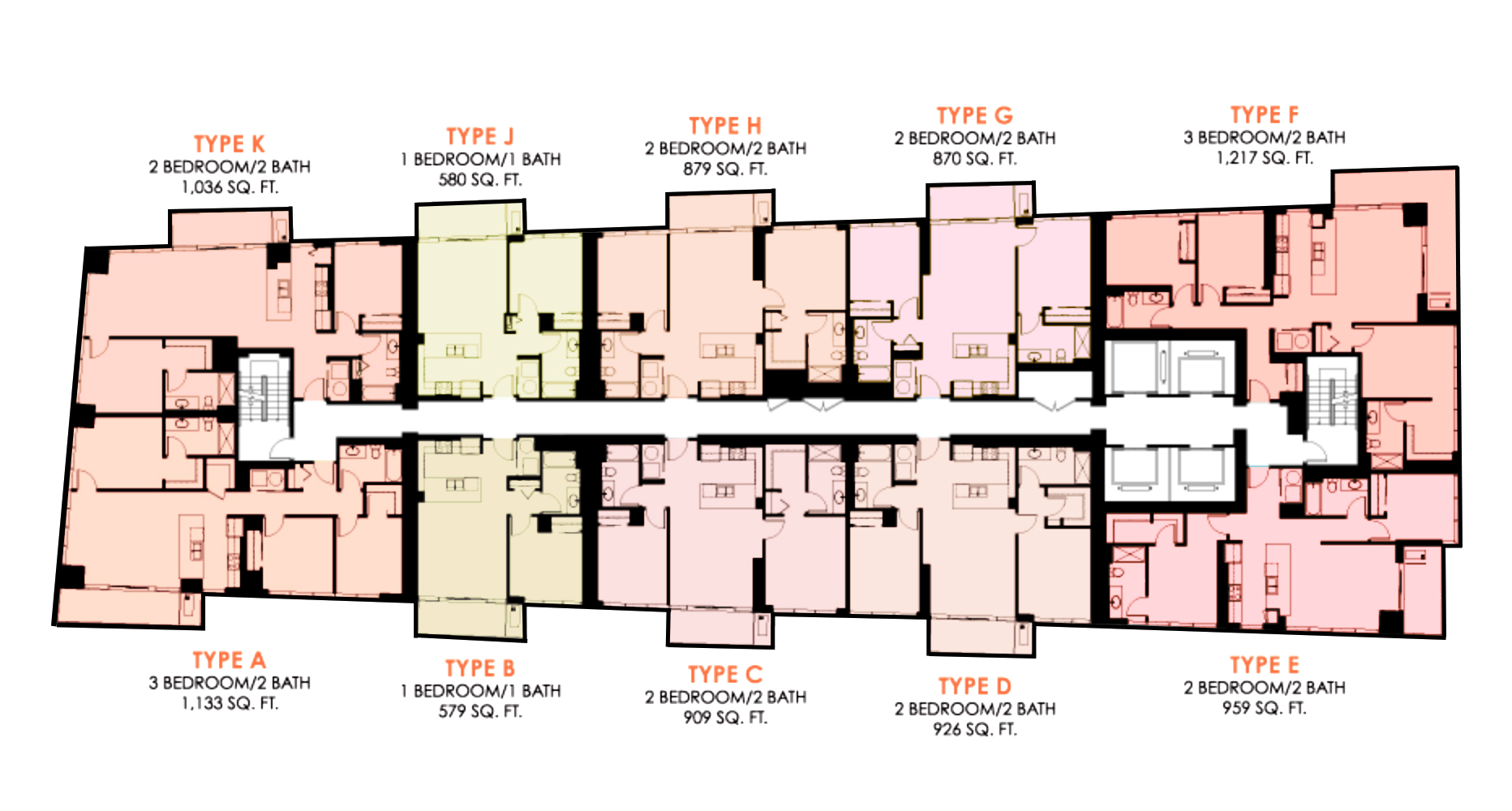 The Collection condo Floor plans