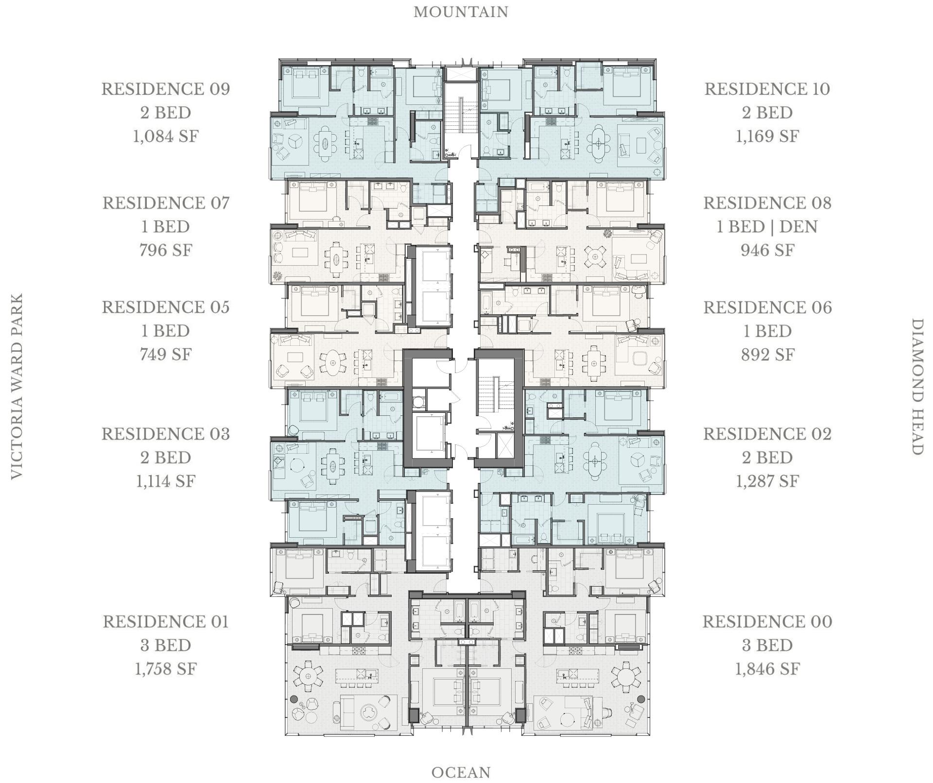 Victoria Place Floor Plans