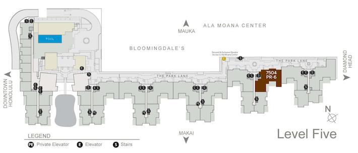 Park Lane Ala Moana Floor Plans