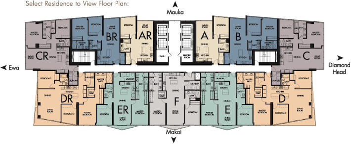 The Symphony Honolulu Floor plans
