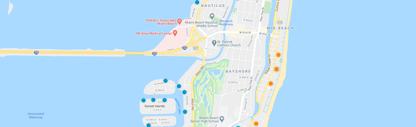 Miami Beach Interactive Map Search