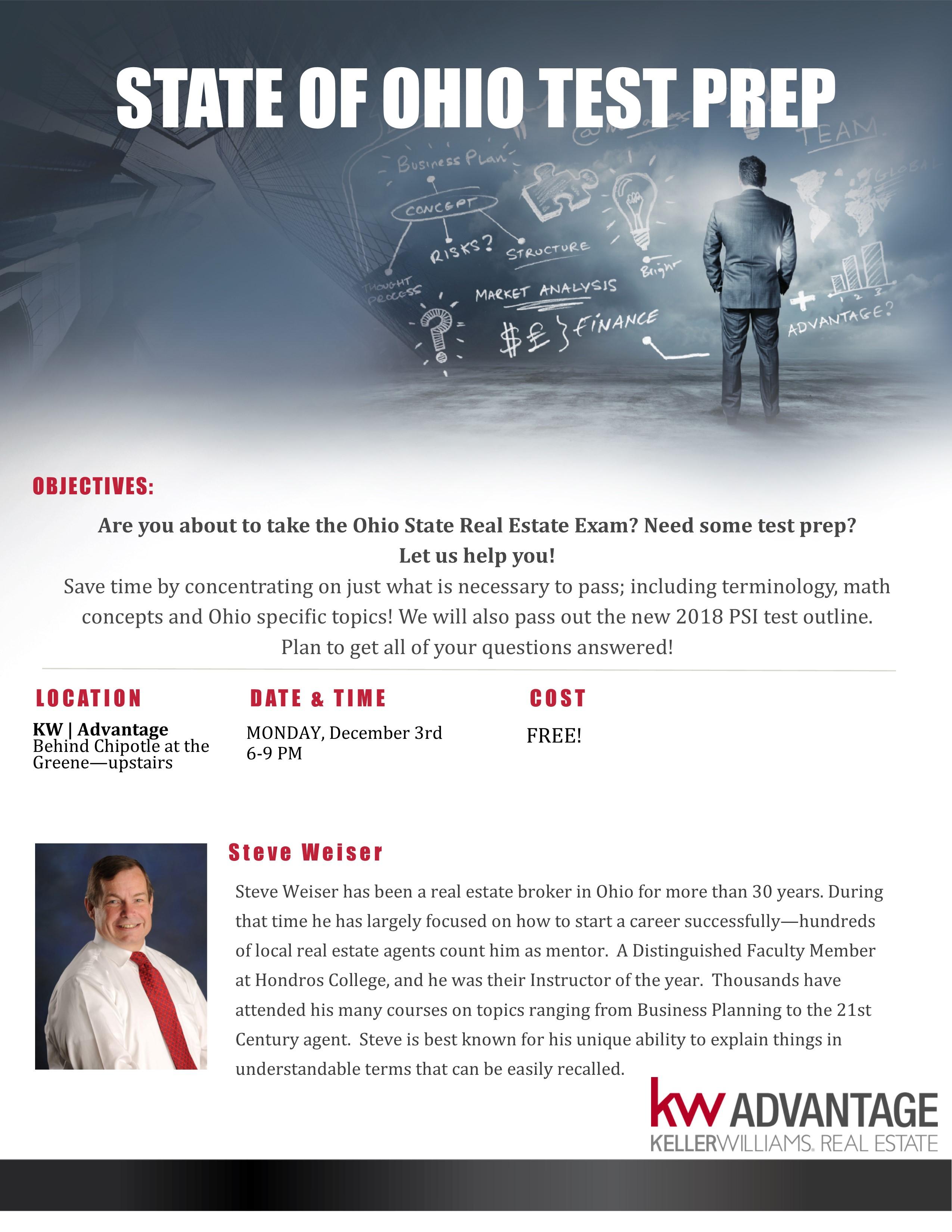 Ohio Real Estate Salesperson License Class