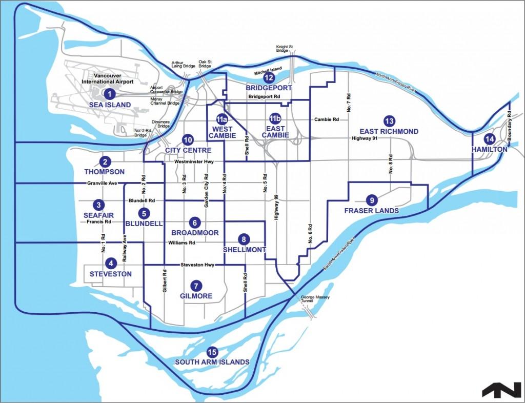 Richmond Sub Areas Map