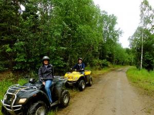 Riding atvs at Lake Petenwell