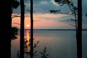 Amazing sunset on Lake Petenwell