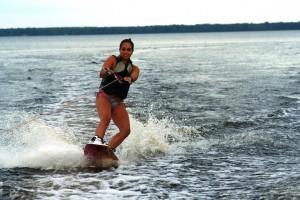 Wakeboarding on Lake Petenwell