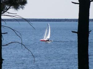 Sailing on Lake Petenwell