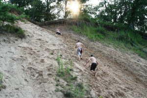 Sand hill climb on Lake Petenwell