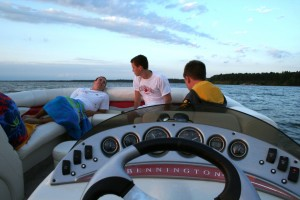 Sharing stories on Lake Petenwell