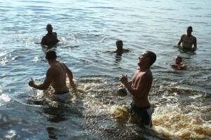 Water football at Lake Petenwell
