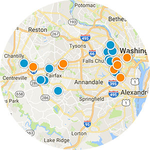 NOVA Homes with Garages Real Estate Map Search