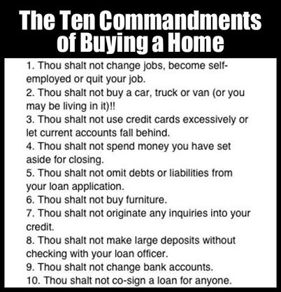 Ten Commandments for Buying a Home