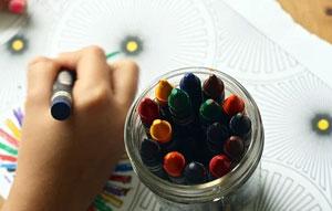 Kid drawing at Minnetonka Day Care