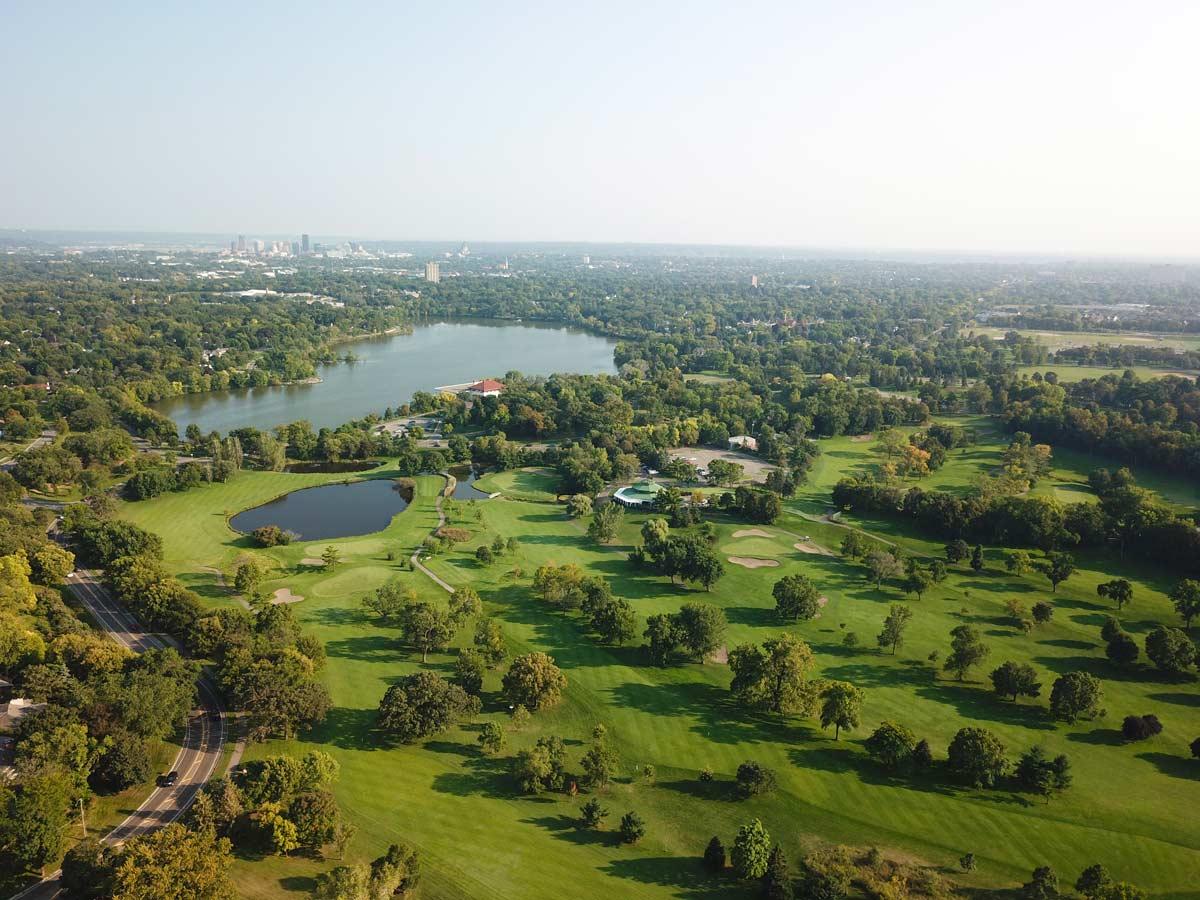 Como Park Golf Course and Como Lake View