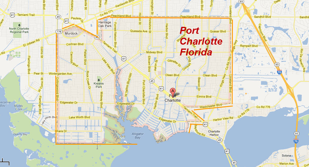 florida map of port charlotte