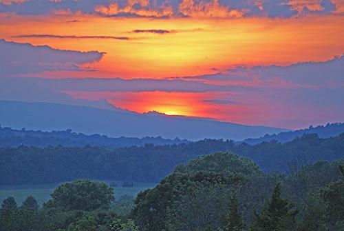 Sunset view from Lees Ridge Rd. in Warrenton, VA