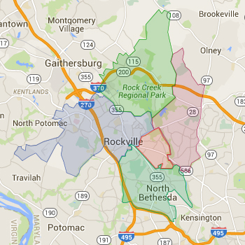 Zip Code Map for Rockville