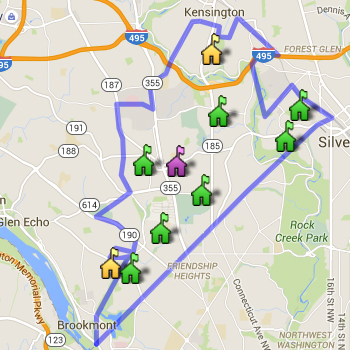 Bethesda-Chevy Chase Cluster Boundary Map