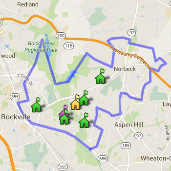 Rockville Cluster Boundary Map