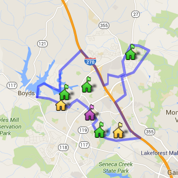 Seneca Valley Cluster Boundary Map
