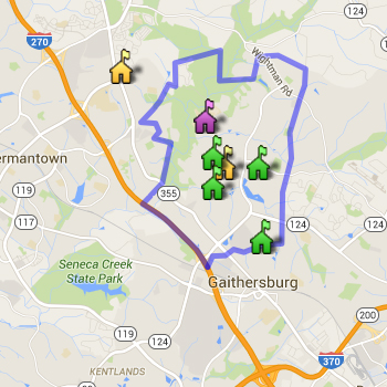 Watkins Mill Cluster Boundary Map