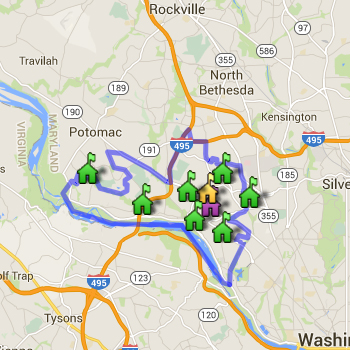 Walt Whitman Cluster Boundary Map